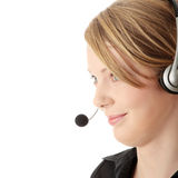 Young call center worker Stock Photos