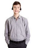 Young call center worker. Stock Photography