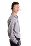 Young call center worker. Stock Image
