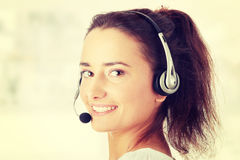 Young call center worker Stock Image