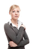 Young calm business woman Stock Photo