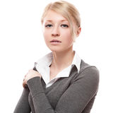 Young calm business woman Royalty Free Stock Photography