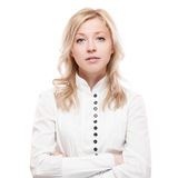 Young calm business woman Royalty Free Stock Photo