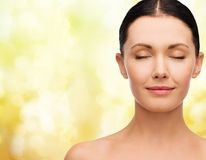 Young calm woman with closed eyes Royalty Free Stock Image