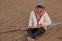 Young Cambodian Farmer Royalty Free Stock Images