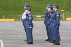 Young Canadian Air Cadets Stock Image