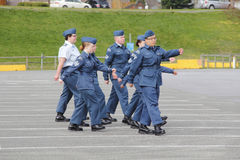 Young Canadian Air Cadets Marching Stock Photo