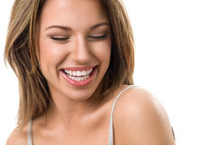 Young candid woman laughing Royalty Free Stock Images