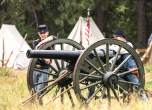 Young Cannon Crew Royalty Free Stock Photos