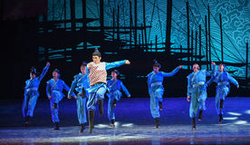 """Young captain-Dance drama """"The Dream of Maritime Silk Road"""". Dance drama """"The Dream of Maritime Silk Road"""" centers on the plot of two generations of a Stock Image"""