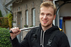 Young car mechanic stock photo