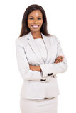 Young career woman. Portrait of attractive young african american career woman Stock Photography