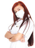 Young caring doctor in white uniform Royalty Free Stock Photo