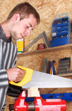 Young carpenter Stock Image
