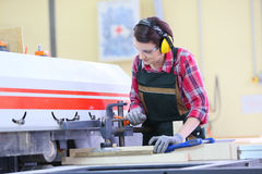 Young carpenter at work Stock Photography
