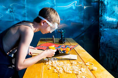 Young carpenter Royalty Free Stock Photo