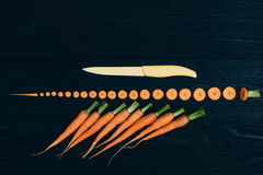 Young carrot. Cooking with fresh vegetables Royalty Free Stock Photo