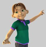 Young Cartoon Boy Royalty Free Stock Image