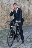 Young casual business man talking on the phone Stock Images