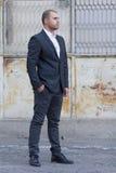 Young casual businessman outdoors Stock Photos