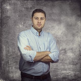 Young casual businessman smiling Royalty Free Stock Photos