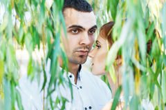 Young casual couple enjoy Royalty Free Stock Photo