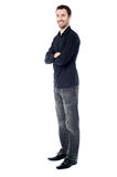 Young casual guy, full length shot. Stock Photography