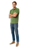Young casual guy, full length shot. royalty free stock photos