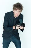 Young Casual Male Photographer Stock Photography