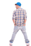Young casual man from back Stock Photography