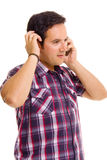 Young Casual Man On The Phone Stock Photo