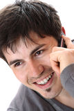 Young casual man on the phone Stock Photography