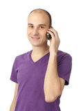 Young casual man on the phone Stock Photos