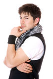 Young casual man portrait Stock Photos