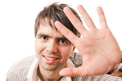 Young casual man portrait Stock Photo