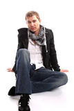 Young casual man posing Royalty Free Stock Photo