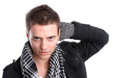 Young casual man posing Royalty Free Stock Images