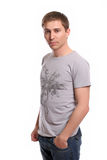 Young casual man, posing Royalty Free Stock Images