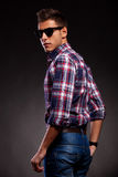 Young casual man with shades Royalty Free Stock Photos