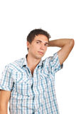 Young casual man in shirt Stock Photo