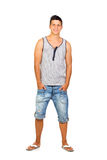 Young Casual Man with Summer Wear Royalty Free Stock Images