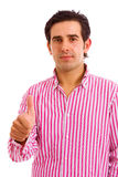 Young casual men tumbs up Royalty Free Stock Photography