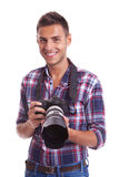Young casual photographer Royalty Free Stock Photos