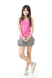 Young casual pretty asian woman Royalty Free Stock Image