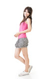 Young casual pretty asian woman Royalty Free Stock Photography