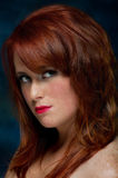 Young casual red haired female portrait Royalty Free Stock Photography