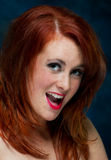 Young casual red haired female portrait Royalty Free Stock Image