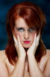 Young casual red haired female portrait Royalty Free Stock Images