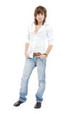Young, casual, sexy man. Studio view of a young, casual, sexy man Royalty Free Stock Photo