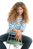 Young casual smiling woman Stock Image
